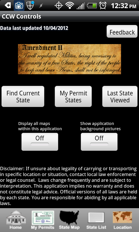CCW android app review – CCW Concealed Carry 50 States