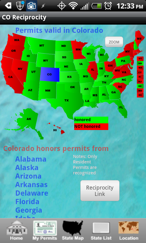 Android Ccw App Review Ccw Concealed Carry 50 States We Like