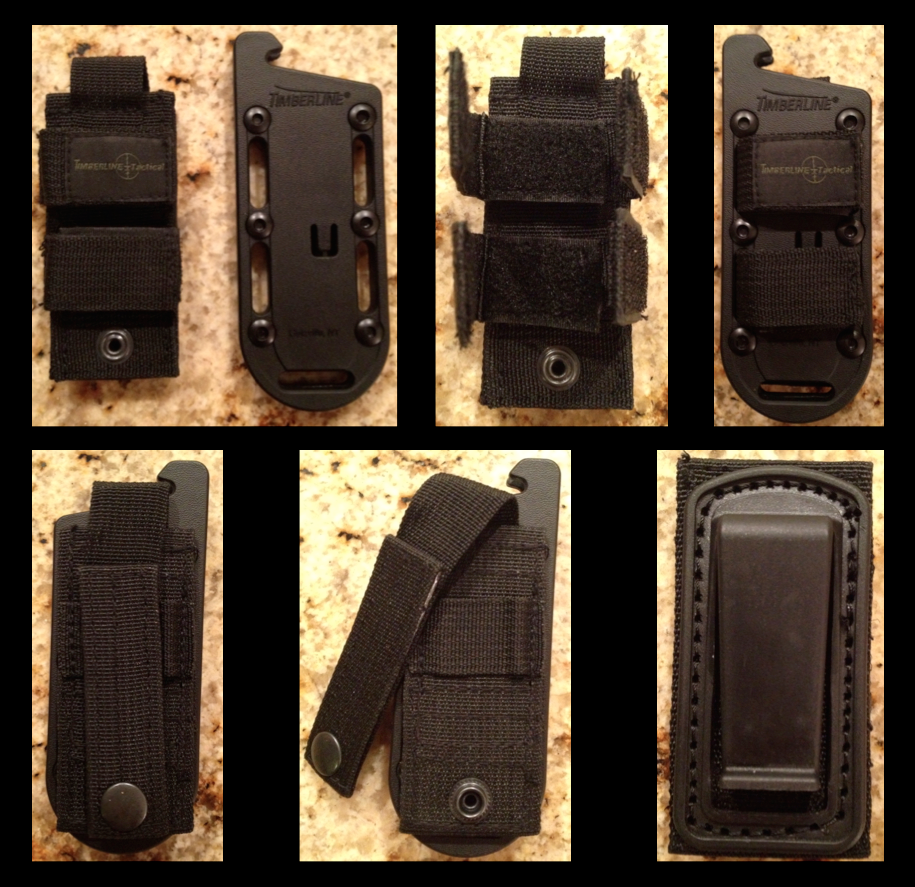 ECS-3 Sheath, MOLLE Rig, and Clip Options