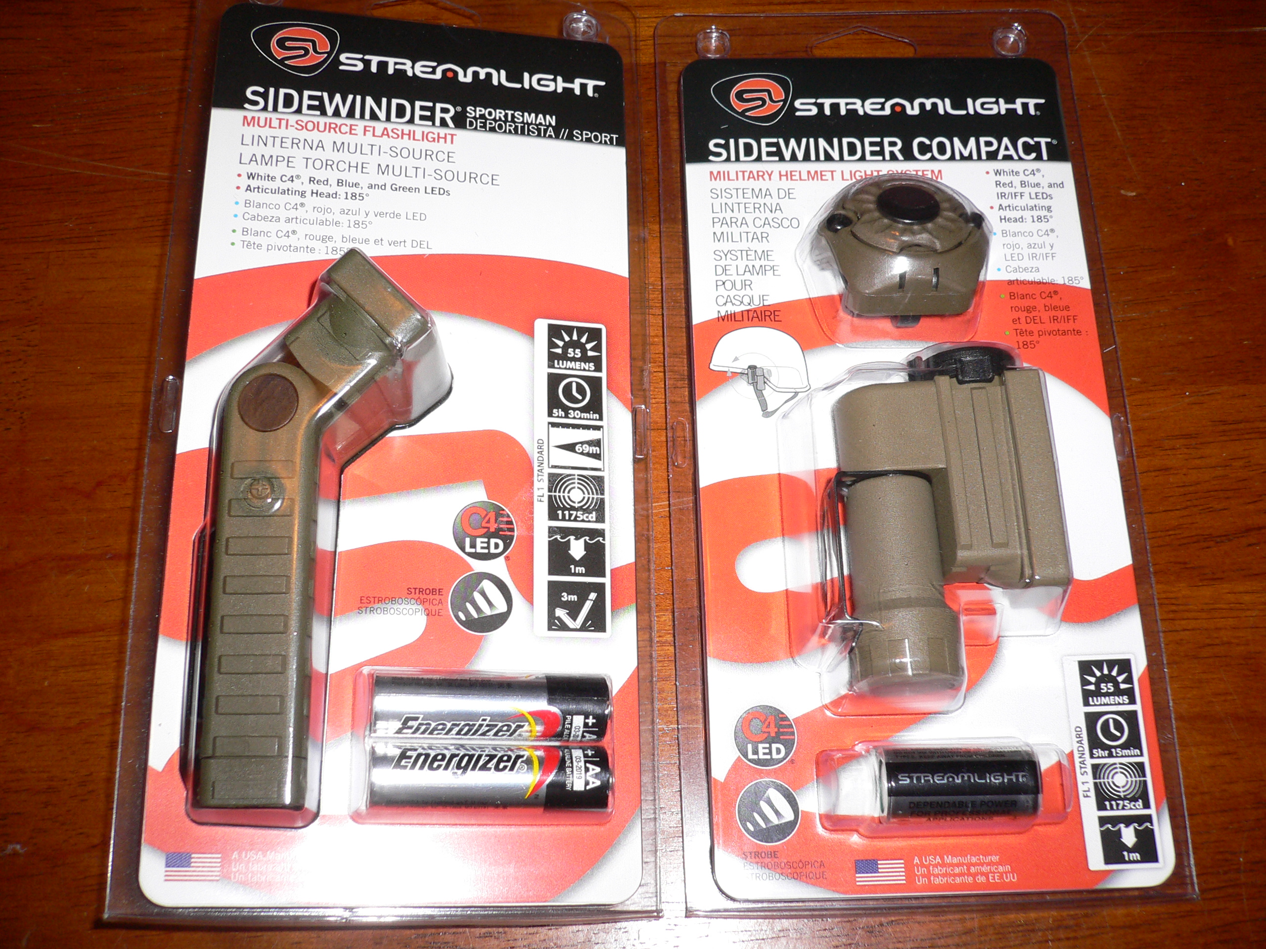 Streamlight Sidewinder And Sidewinder Compact