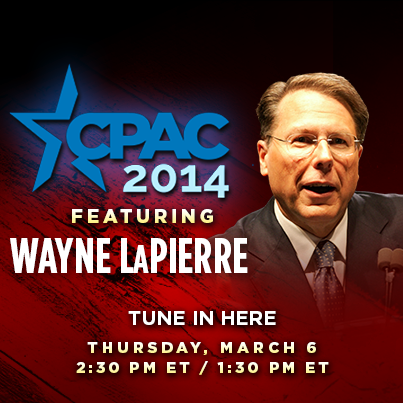 Live stream of Wayne LaPierre's CPAC speech