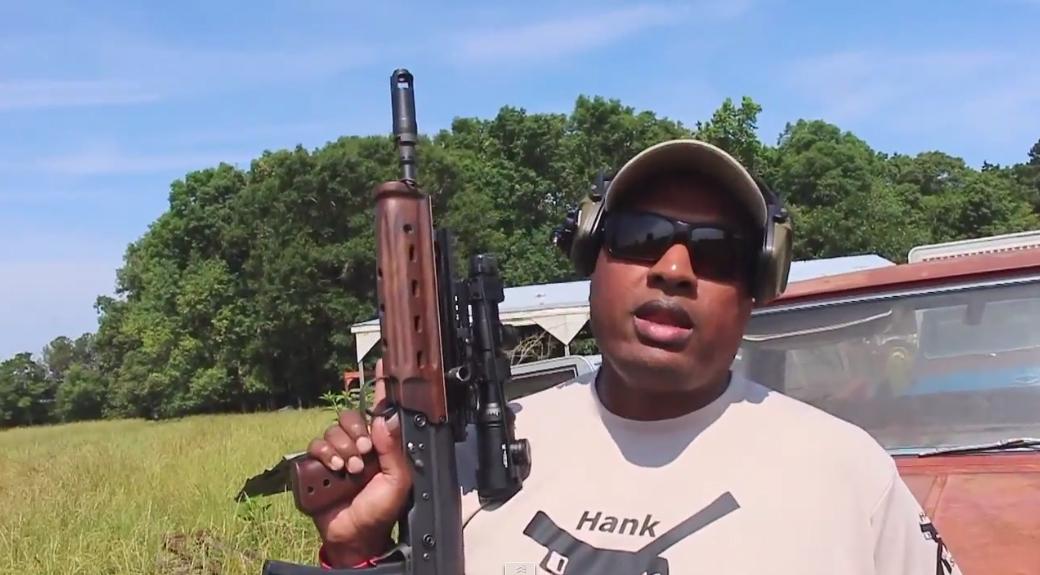 Hank Strange Shooting Kel Tec M43 Bullpup Rifle on Iraqveteran8888 Farm with Chad