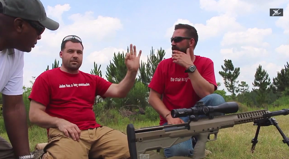How to Sight in a Sniper Rifle with Pete and Nate Part 2 Desert Tech HTI 50 BMG