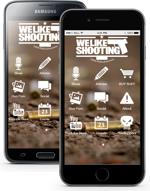 gun app, we like shooting, iphone gun app, android gun app