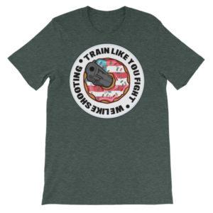 Train like you fight! Unisex short sleeve t-shirt