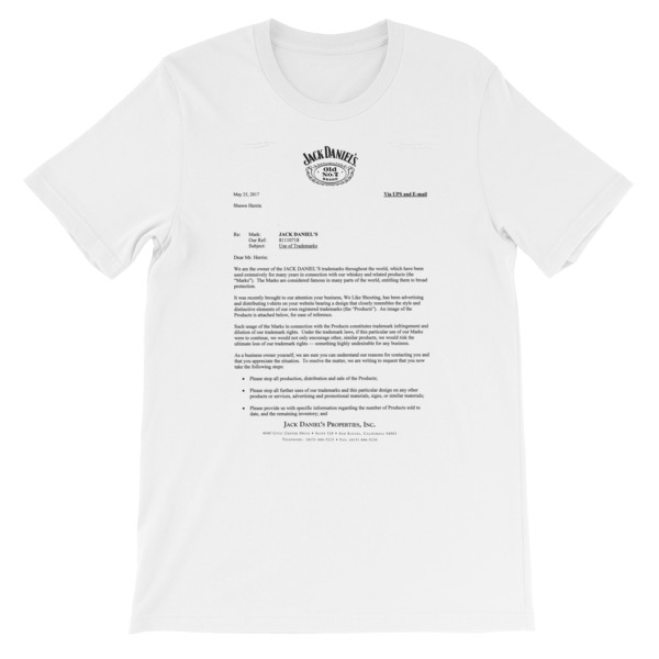 Cease desist unisex short sleeve t shirt we like shooting thecheapjerseys Image collections