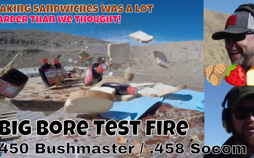 The worst peanut butter & jelly sandwiches ever. .450 BushMaster and .458 Socom