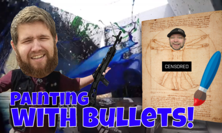 Painting with bullets! We'll show you how!