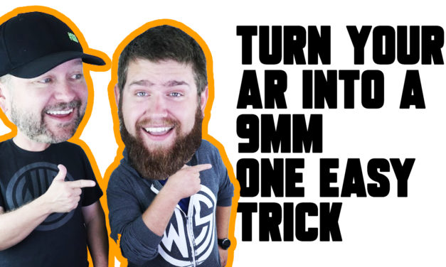 Turn your AR into a 9mm with this one easy trick! Magwell Adaptors